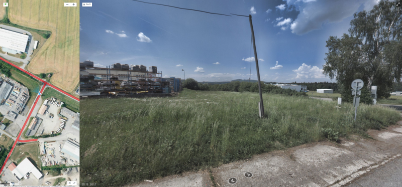 prodej pozemek Pro komerční výstavbu,  plocha 2404m²